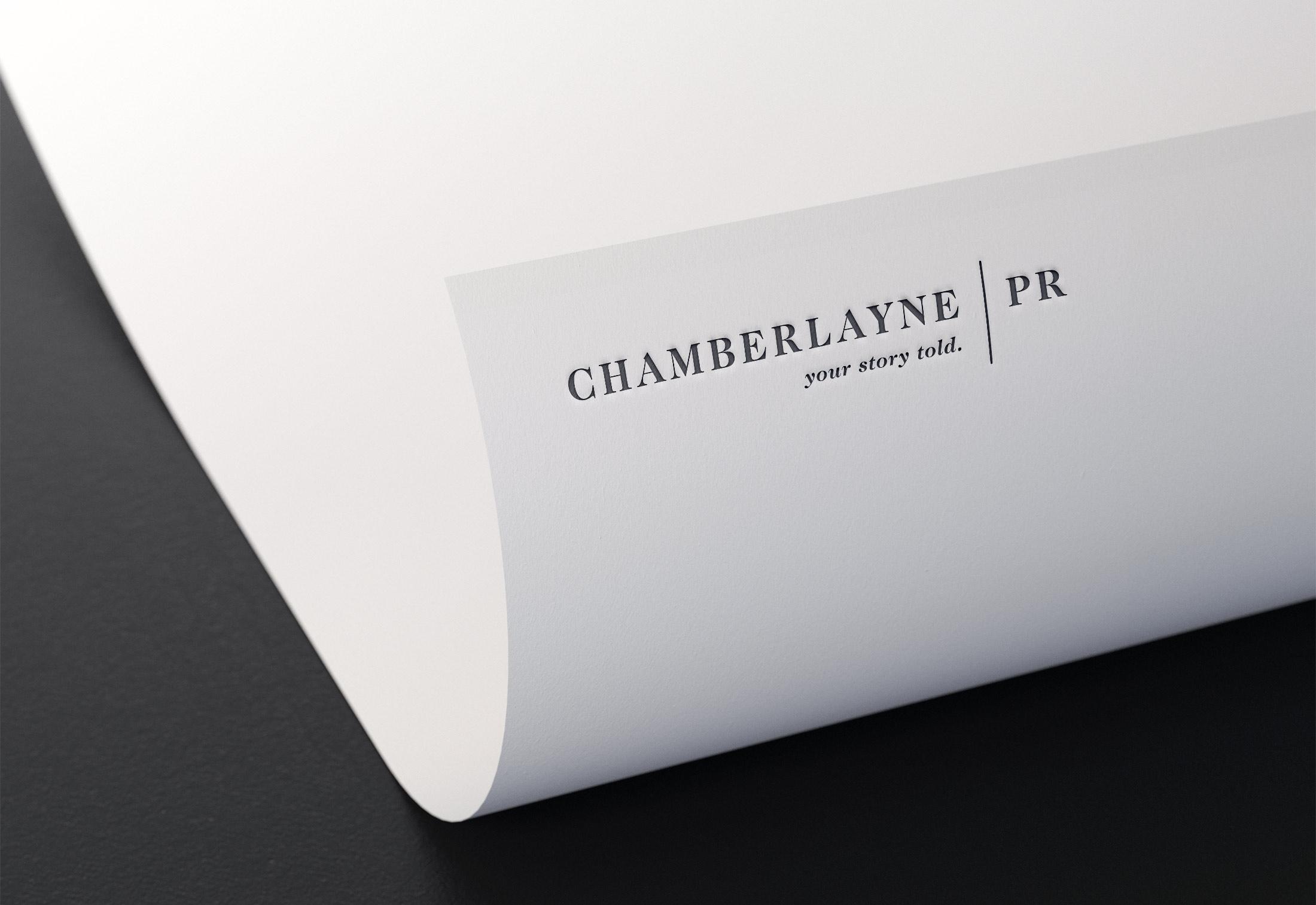 ChamberlaynePR Logo Design