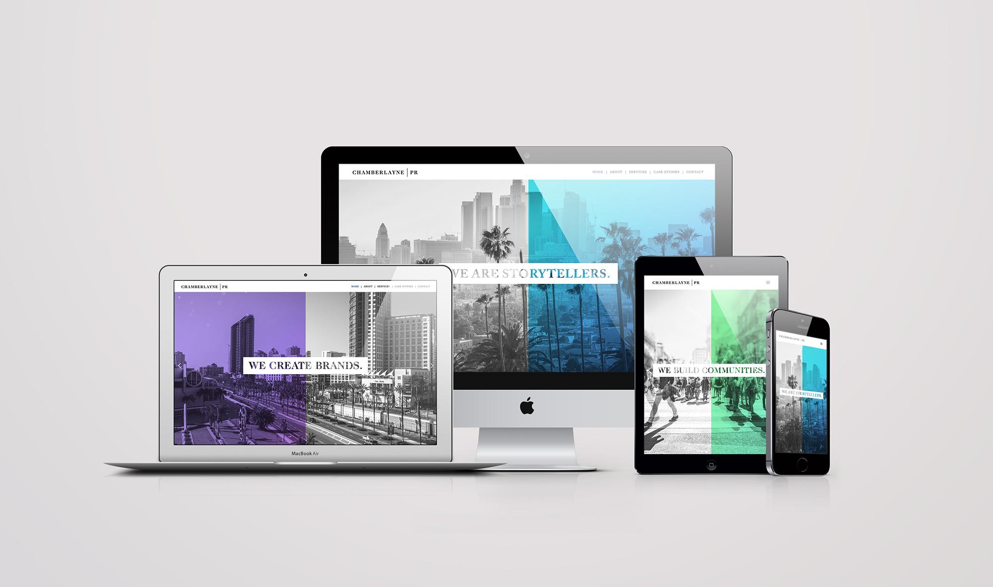 ChamberlaynePR Web Design