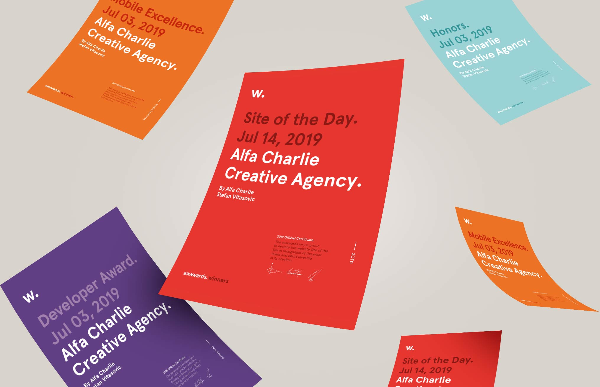 Alfa Charlie wins Site of the Day on Awwwards