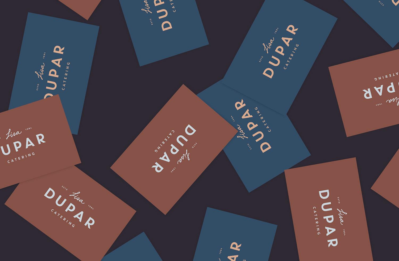 Lisa Dupar Catering Business Card Design
